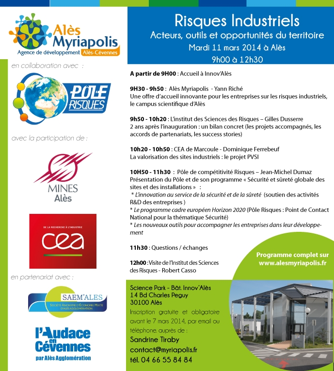 Risques Industriels - 11 mars - Invitation